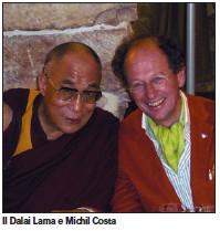 Il Dalai Lama e Michil Costa