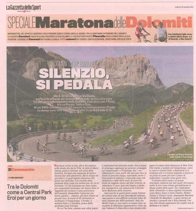 13.06.29_GazzettadelloSport_Silenzio si pedala