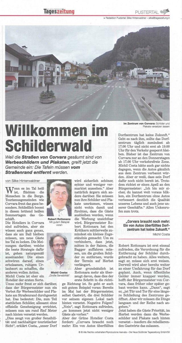 13.07.26_Tageszeitung_Willkommen im Schilderwald