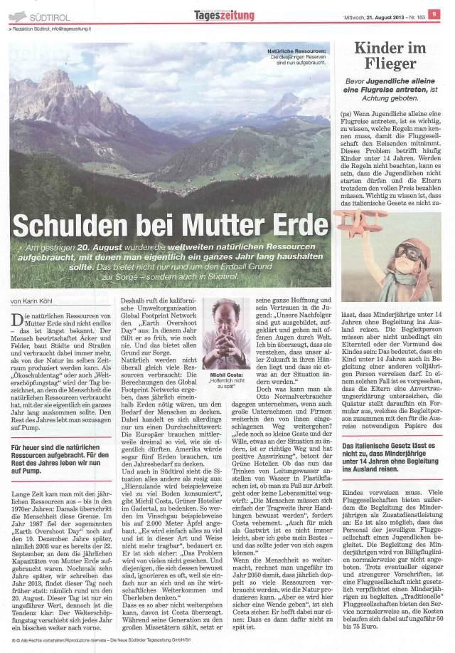 13.08.20_Tageszeitung_Schulden bei Mutter Erde